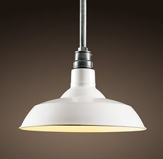 Vintage barn light from Restoration Hardware.  Available in many sizes and colors.