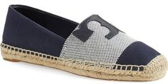 Love these espadrilles with logo. On sale. Tory Burch Canvas Espadrille (Women)