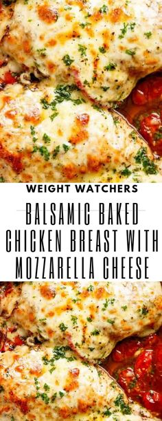 weightwatchers mozzarella balsamic chicken breast cheese baked with balsamic baked chicken breast with mozzarella cheese balsamic baked chicken breast with mozzarella You can find Chicken breast calories and more on our website Poulet Weight Watchers, Plats Weight Watchers, Weight Watchers Chicken, Queso Mozzarella, Mozzarella Chicken, Mozzarella Cheese Recipe, Cheese Food, Weight Watcher Dinners, Ww Recipes