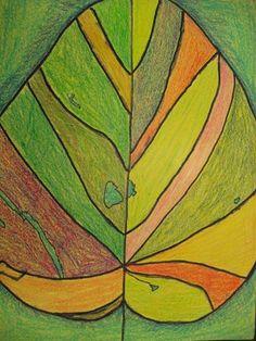 Georgia OKeefe leaves. Artsonia Art Museum :: Artwork by Lysette2
