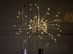 Remote Control Battery Operated Hanging Starburst Decorative Copper Wire Lights