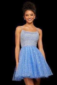 Sherri Hill - 53146 Lattice Textured Bodice Short Dress