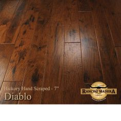 Rancho Madera Diablo Hickory Hardwood Flooring from Shamrock