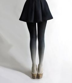 Shaded tights.  Lovely. - i think my mom has these before :D