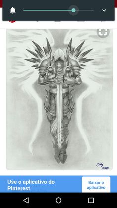 Tyrael - by grace of god by LeyuArt.Gods Grace is Sufficient.Never insufficient funding! St. Michael Tattoo, Archangel Michael Tattoo, Warrior Tattoos, Viking Tattoos, Angel Warrior Tattoo, Angel Of Death Tattoo, Norse Tattoo, Celtic Tattoos, Angel Tattoo Men