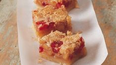 Take a break from chocolate and make these cheery cherry bars.