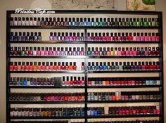 wood nail polish wall rack - Google Search
