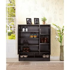 Furniture of America Maxwell Black Seven-shelf Cabinet   Overstock.com Shopping - Great Deals on Furniture of America Dressers