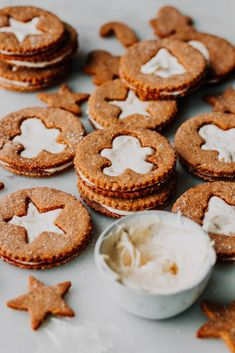 Gingerbread Linzer Cookies with Creamy Fresh Ginger Filling - The Sweet and Simple Kitchen