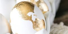 """""""9 Gorgeous Easter Eggs"""" at the click-through. Shown: """"Golden Goose: Get your hands on some gold leaf and create golden eggs like these shiny, fabulous, and intricate ones."""""""