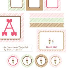 Free Ice Cream Printables | For SRC Volunteer Ice Cream Party | LFF Designs | www.facebook.com/LFFdesigns