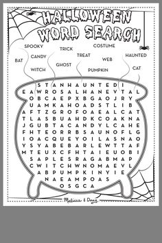 Halloween Arts And Crafts, Halloween Words, Halloween Activities For Kids, Holiday Activities, Easy Halloween, Holidays Halloween, Halloween Word Search, Preschool Activities, Imprimibles Halloween