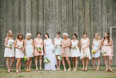 Vintage pastel bridesmaids | Photos by Sharalee Prang | 100 Layer Cake