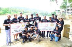 The teams at #ElephantOrphanage, #Pinnawala. #HarleyStreetThunderSrilanka