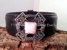 great ideas on how to re-purpose old leather belts into pretty bracelets using stamps and other pieces of jewelry.