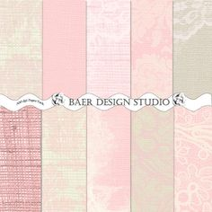 BURLAP and LACE Digital PAPER in Pink and Ivory: 8.5x11 printable paper- Weddings, Scrapbooking, Cards, Baby Showers, Instant Downloads