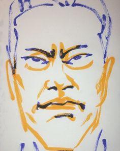 いいね!7件、コメント1件 ― @1mindrawのInstagramアカウント: 「#1mindraw #endoukenichi #遠藤憲一 #19610628 #birthday #誕生日 #portrait #筆ペン画」