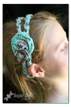 Girls Camp Craft - No Sew Braided Headbands ~ Sugar Bee Crafts