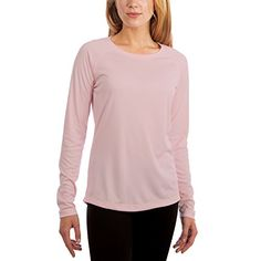 Vapor Apparel Women's UPF 50+ Long Sleeve UV (Sun) Protection Performance T-Shirt Large Pink Blossom. For product & price info go to:  https://all4hiking.com/products/vapor-apparel-womens-upf-50-long-sleeve-uv-sun-protection-performance-t-shirt-large-pink-blossom/