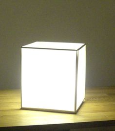 How To Make A Shoji-Style Table Lamp.  Is Is So Clean Looking And Beautiful.  There Is A Full Tutorial On Instuctables.com.
