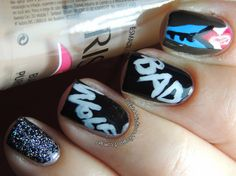 Doctor Who Bad Wolf Nails ♥ http://polishaddictionn.blogspot.com.br/2013/09/doctor-who-bad-wolf-nails.html