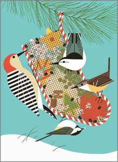 Love Charley Harper art...especially his birds. This would be fun to do as an applique project
