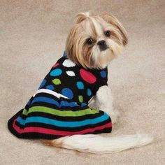 Electric Knit Dog Dress Size XXSmall 8 H x 75 W x 025D >>> Details can be found by clicking on the image.