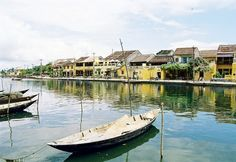 "Hoi An in Quang Nam, Vietnam: next to ""Thu Bon""  river"