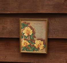 Dearest Mother Motto Art Vintage Mother by PineSpringsCottage Poetic Words, Cottage Art, Yellow Roses, Motto, Wooden Frames, Vintage Items, Gallery Wall, Framed Prints, Antiques