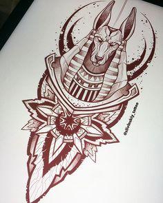 Tattoo Design Drawings, Tattoo Sleeve Designs, Tattoo Sketches, Tattoo Designs Men, Sleeve Tattoos, Egypt Tattoo Design, Anubis Tattoo, Osiris Tattoo, Hamsa Tattoo
