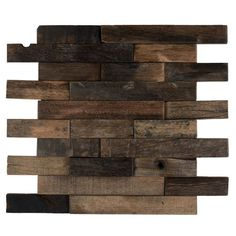 Reclaimed Boatwood Mosaic Tile Linear kitchen backsplash, and featured walls. Samples available.
