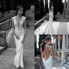 Find More Wedding Dresses Information about 2014 Floor Length Fish Tail Bridal Gown Deep V Neck Sexy See Through Sheer Back Court Train Mermaid Wedding Dress Robe De Soiree,High Quality Wedding Dresses from Meeting Mr White Wedding Custom Store on Aliexpress.com