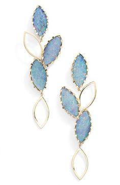 Women's Lana Jewelry 'Riviera - Casino' Drop Earrings - Australian Opal/ Yellow Gold