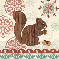 Woodland Squirrel by Jennifer Brinley | Ruth Levison Design