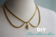 [DIY] Chain necklace collar