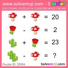 Solvemoji - Free teaching resources - Emoji math puzzle, great as a primary math starter, or to give your brain an emoji game workout. Brain Games, Math Games, Math Activities, Disney Fan Art, Punk Disney, Maths Starters, Mind Benders, Math Genius, Senior Pranks