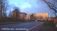 Regenboog boven het Gemini ziekenhuis in Den Helder.