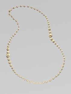 simply gold is sometimes perfect // Marco Bicego gold bead necklace