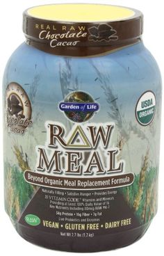 Garden of Life Raw Organic Meal Chocolate, Net Wt. 2.7 lbs (1.2 Kg)