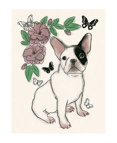 French Bull Dog art print French Bull Dog by matouenpeluche