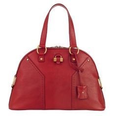 YSL Large Muse in Red, I'll also take chocolate bag #dreambig