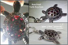 Rose Petal Turtle Keepsake Keychain http://abanister1.wixsite.com/morethanmemories