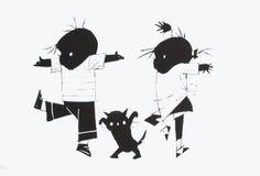 Mini posters    Poes    Fiep Westendorp    PC070    Kunst, Posters, Honden, Mensen, Tekeningen, Kinderen, Dansen, Kinderboek Illustratoren, Dieren, Kinderboekenillustraties, Illustraties, Jip  Janneke, Katten,