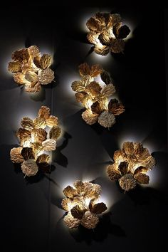 Wall light sculpture