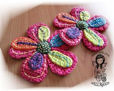 Crochet motif Applique petit oiseau bricolage modèle 9