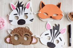 Kodin Kuvalehti – Blogit | Ruususuu ja Huvikumpu – Tee itse naamari vappujuhliin. Hauskat eläinnaamarit ilahduttavat pitkään! Crafts For Kids, Paper Crafts, Crafty, Crafts For Toddlers, Kids Arts And Crafts, Paper Craft Work, Kid Crafts, Paper Crafting, Craft Kids