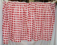 Large Red Checkered Curtain