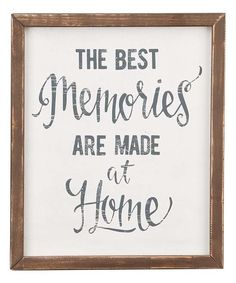 "White ""The Best Memories"" Wall Art"