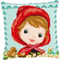 Red Riding Hood with Bow - Cojín en punto de cruz - Vervaco