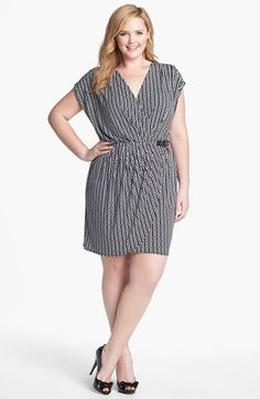 Michael kors wrap dress plus